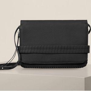 NWT AllSaints club medium black clutch